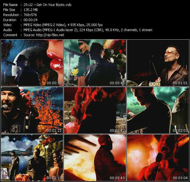 Screenshot of Music Video U2 - Get On Your Boots