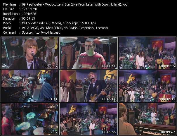 Screenshot of Music Video Paul Weller - Woodcutter's Son (Live From Later With Jools Holland)