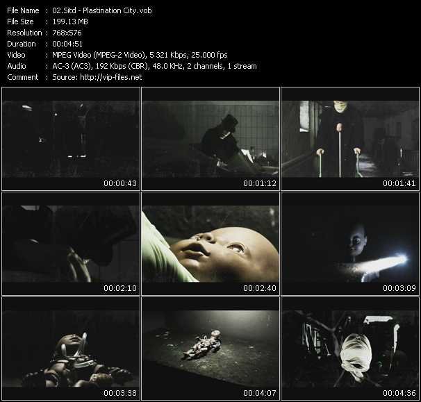 Screenshot of Music Video Sitd - Plastination City
