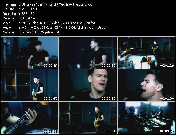 Screenshot of Music Video B. Adams - Tonight We Have The Stars
