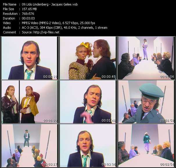 Udo Lindenberg clips musicaux vob