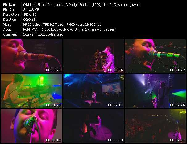 Manic Street Preachers video vob