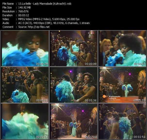 Screenshot of Music Video Patti LaBelle - Lady Marmalade (Kultnacht)