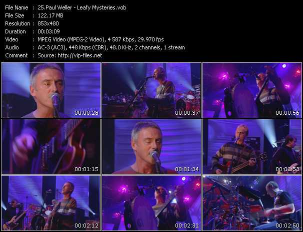 Screenshot of Music Video Paul Weller - Leafy Mysteries