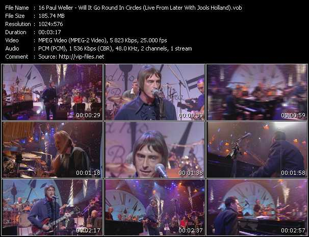 Screenshot of Music Video Paul Weller - Will It Go Round In Circles (Live From Later With Jools Holland)