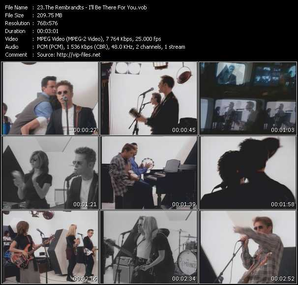 Screenshot of Music Video Rembrandts - I'll Be There For You