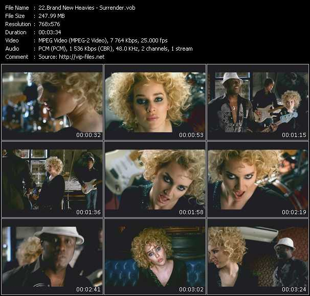 Screenshot of Music Video Brand New Heavies - Surrender