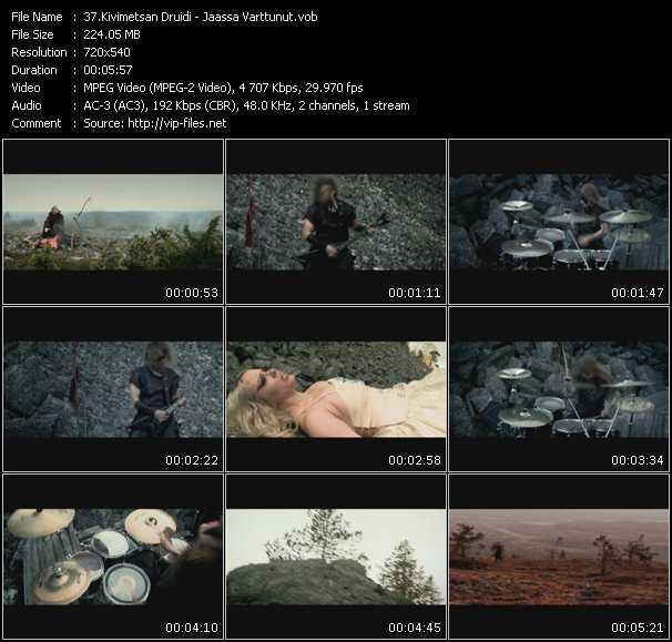 Kivimetsan Druidi clips musicaux vob