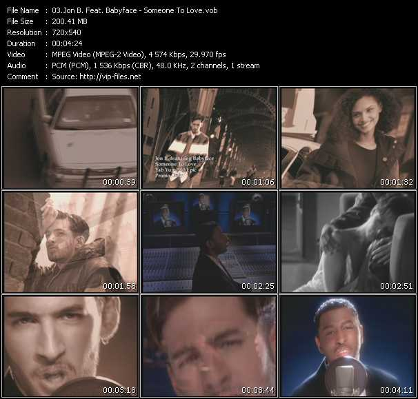 Screenshot of Music Video Jon B. Feat. Babyface - Someone To Love