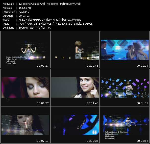 Selena Gomez And The Scene video vob