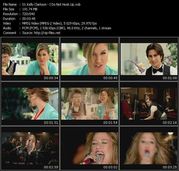 Kelly Clarkson video vob