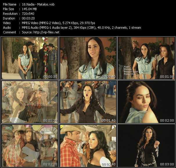 Screenshot of Music Video Nadia - Matalos