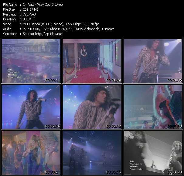 Screenshot of Music Video Ratt - Way Cool Jr.