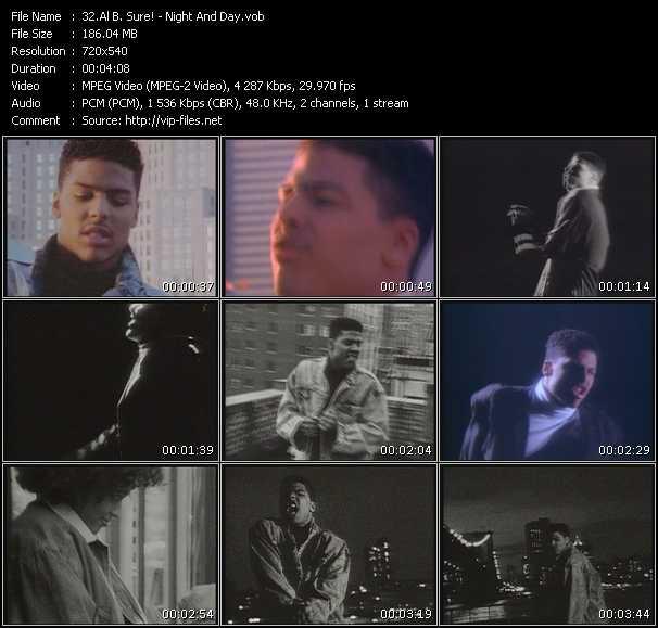 Screenshot of Music Video Al B. Sure! - Night And Day