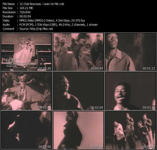 Screenshot of Music Video Club Nouveau - Lean On Me