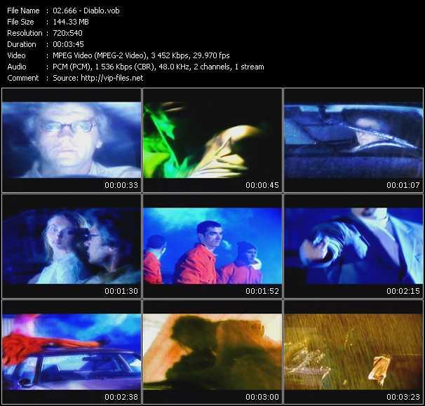 Screenshot of Music Video 666 - Diablo
