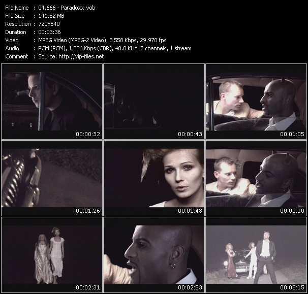 Screenshot of Music Video 666 - Paradoxx