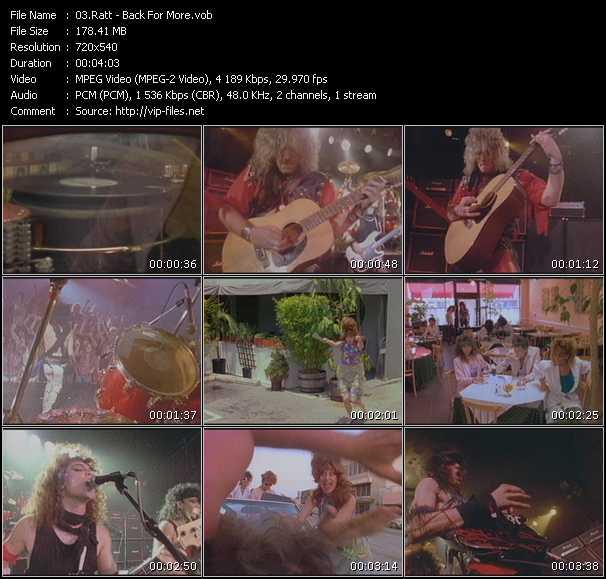 Screenshot of Music Video Ratt - Back For More