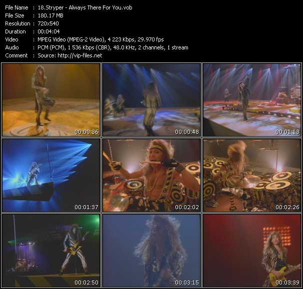 Screenshot of Music Video Stryper - Always There For You