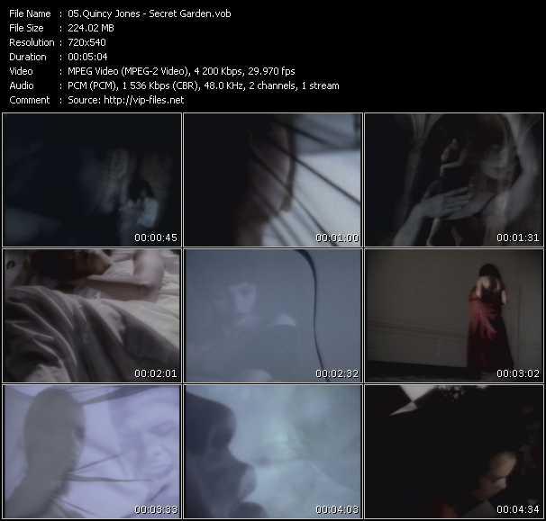 Screenshot of Music Video Quincy Jones Feat. El DeBarge, James Ingram, Al B. Sure! And Barry White - The Secret Garden (Sweet Seduction Suite)