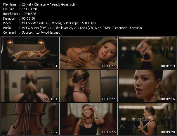 Screenshot of Music Video Kelly Clarkson - Already Gone