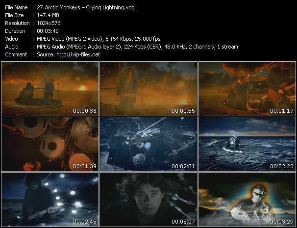 Screenshot of Music Video Arctic Monkeys - Crying Lightning