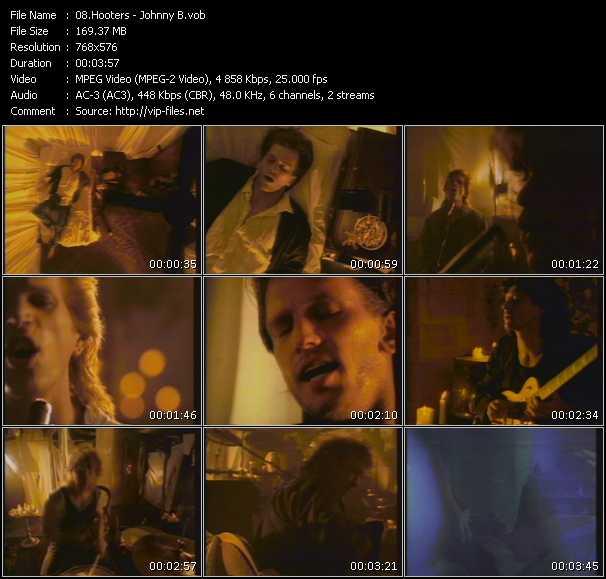 Screenshot of Music Video Hooters - Johnny B