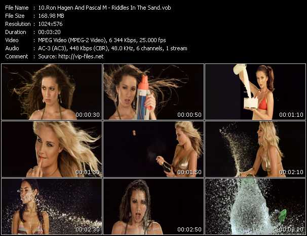 Screenshot of Music Video Ron Hagen And Pascal M - Riddles In The Sand