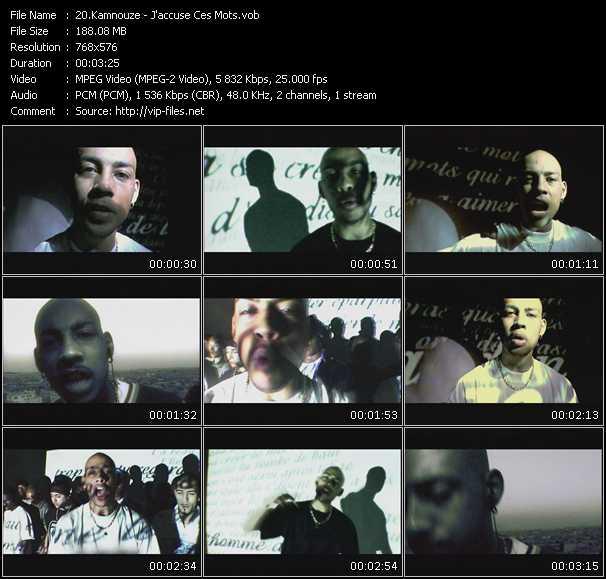 Kamnouze clips musicaux vob
