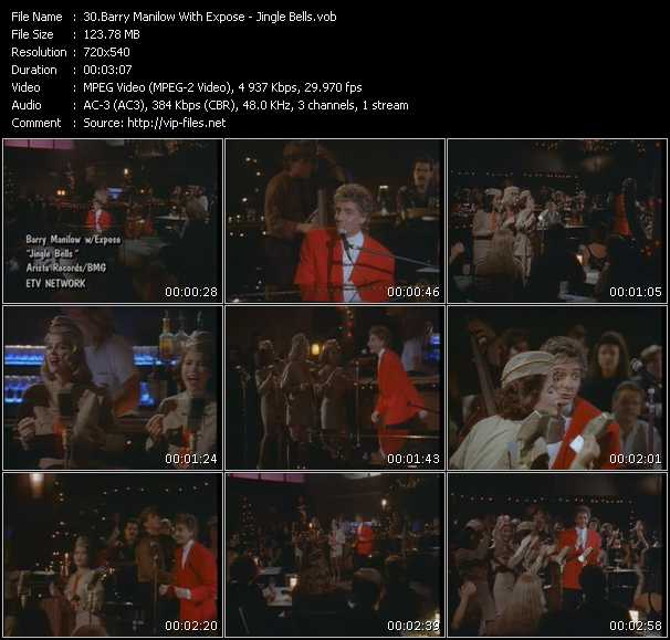 Screenshot of Music Video Barry Manilow With Expose - Jingle Bells