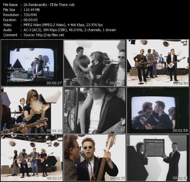 Screenshot of Music Video Rembrandts - I'll Be There