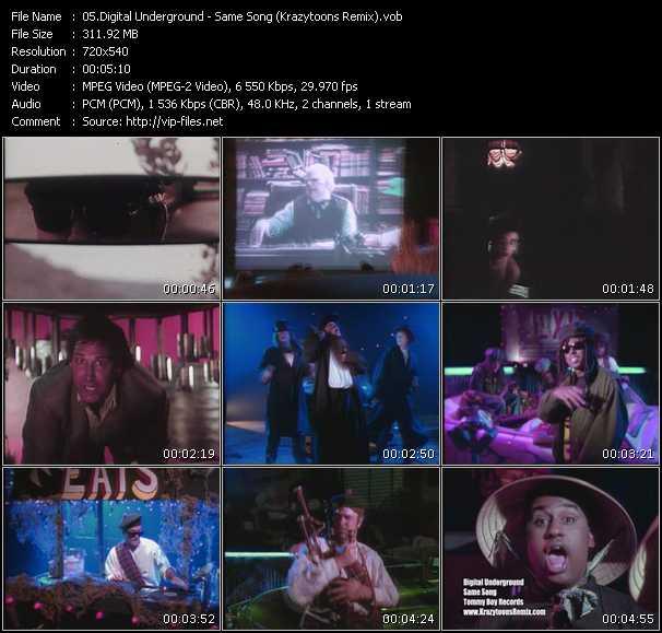 Screenshot of Music Video Digital Underground - Same Song (Krazytoons Remix)