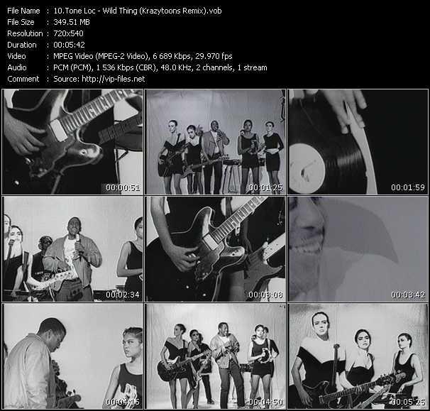 Screenshot of Music Video Tone Loc - Wild Thing (Krazytoons Remix)