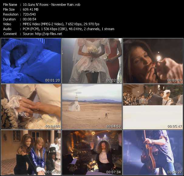 Guns N' Roses video vob
