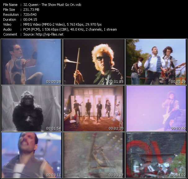 Too much love will kill you of queen in video on jukebox