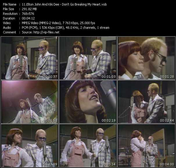 Elton John And Kiki Dee video vob