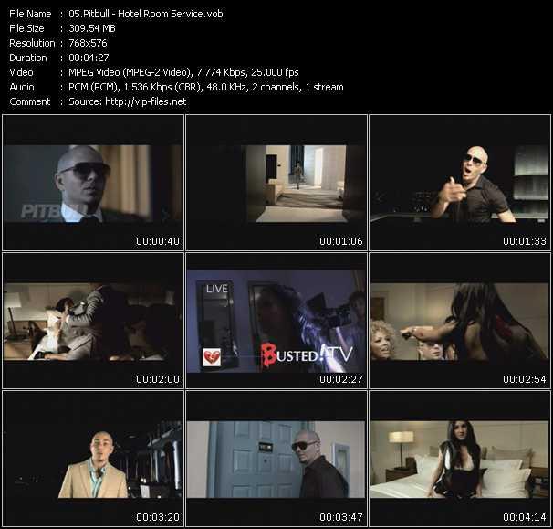 Pitbull видеоклип vob