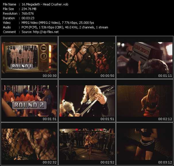 Megadeth video vob