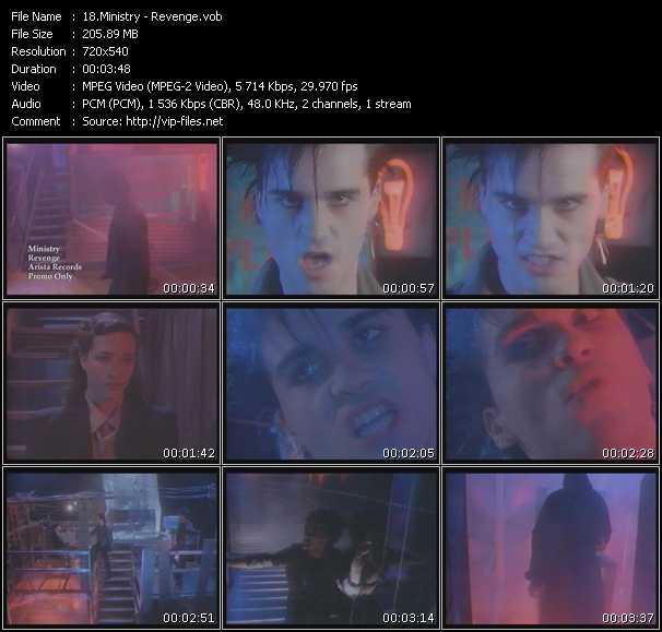 Screenshot of Music Video Ministry - Revenge