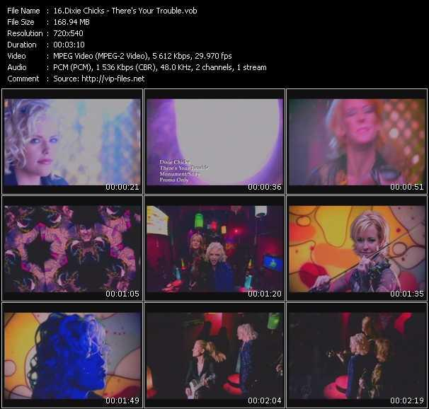 Screenshot of Music Video Dixie Chicks - There's Your Trouble