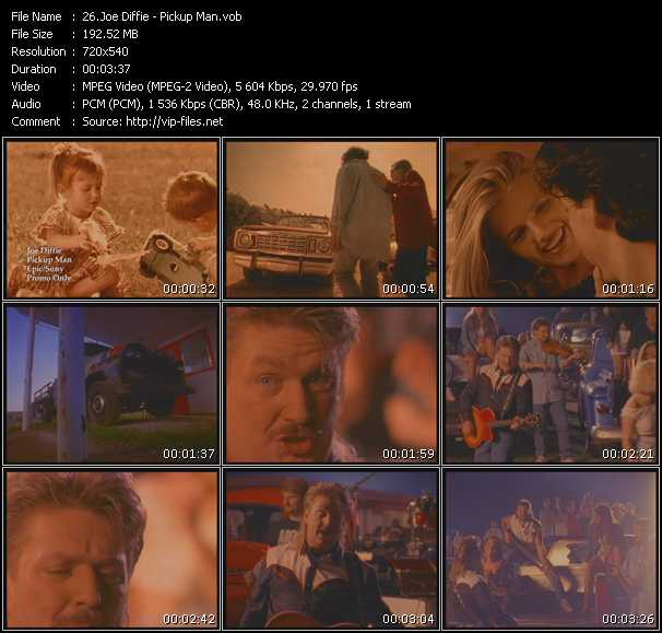Screenshot of Music Video Joe Diffie - Pickup Man