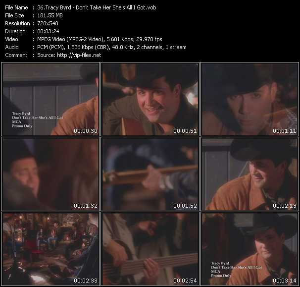 Screenshot of Music Video Tracy Byrd - Don't Take Her She's All I Got