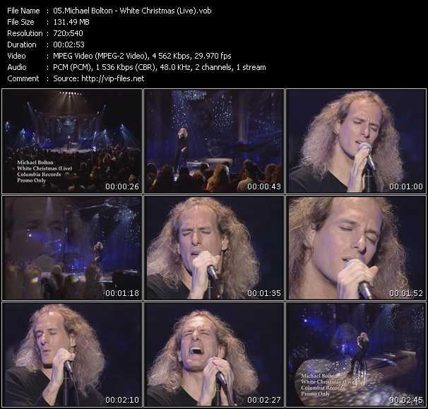 Screenshot of Music Video Michael Bolton - White Christmas (Live)