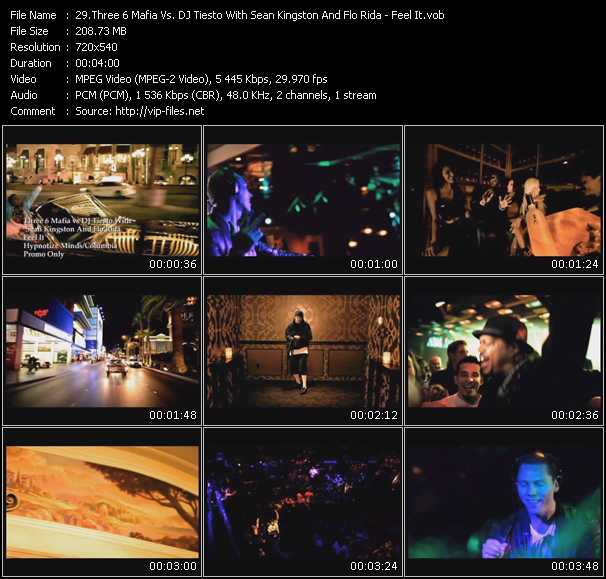 Three 6 Mafia Vs. Tiesto With Sean Kingston And Flo Rida video vob