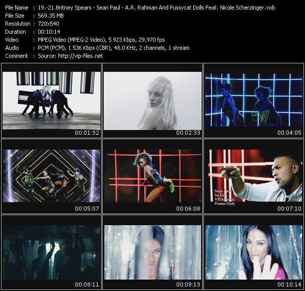 Britney Spears - Sean Paul - A.R. Rahman And Pussycat Dolls Feat. Nicole Scherzinger video vob