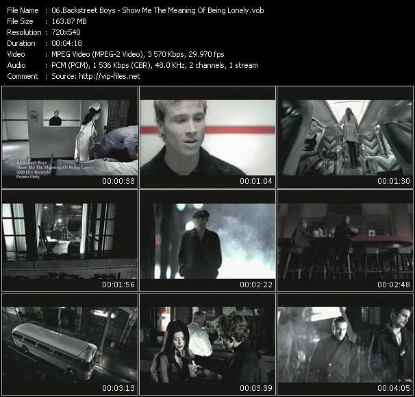 backstreet boys show me the meaning free download