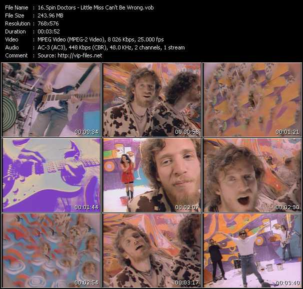 Screenshot of Music Video Spin Doctors - Little Miss Can't Be Wrong