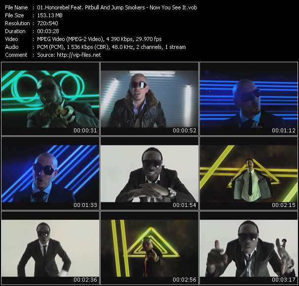 Honorebel Feat. Pitbull And Jump Smokers видеоклип vob