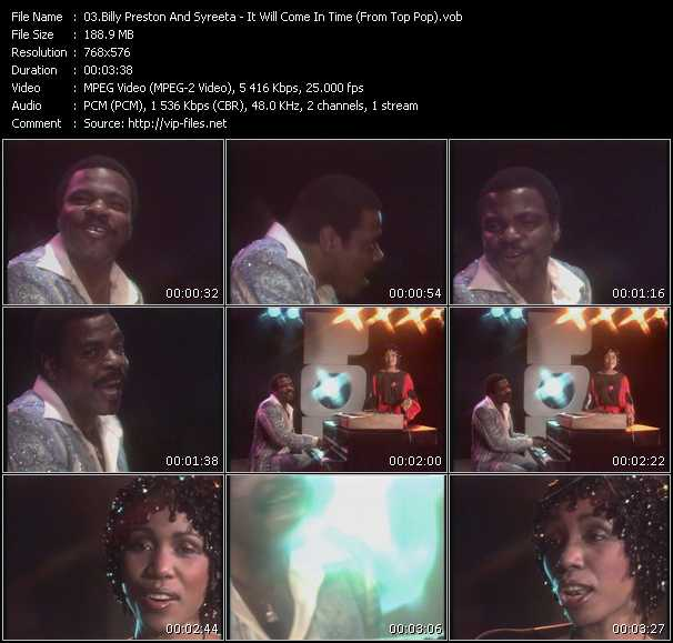 Screenshot of Music Video Billy Preston And Syreeta - It Will Come In Time (From Top Pop)