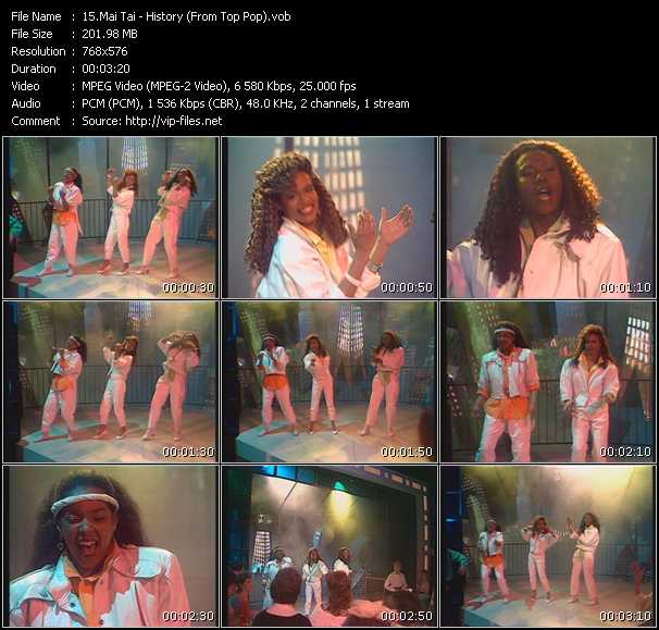 Screenshot of Music Video Mai Tai - History (From Top Pop)